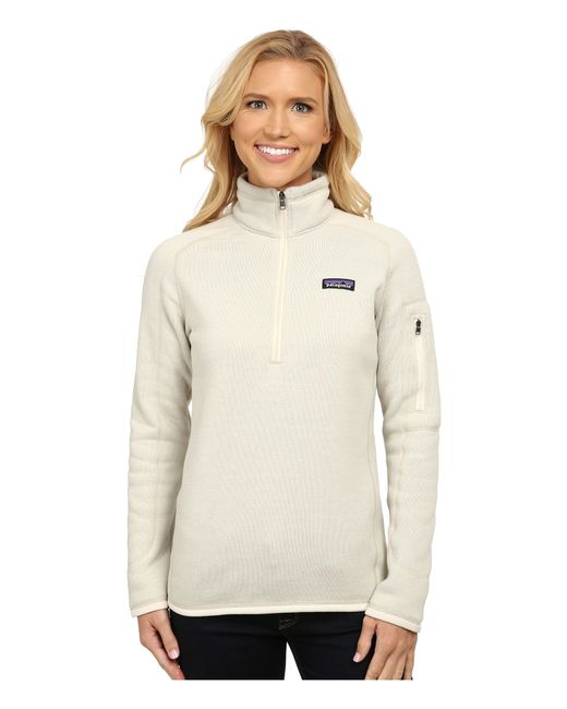 Patagonia   White Better Sweater 1/4 Zip   Lyst
