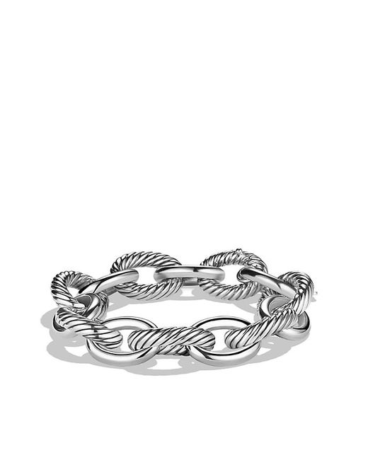 David Yurman | Metallic Extra-large Oval Link Bracelet | Lyst
