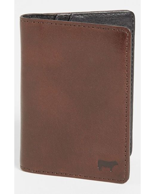 Will Leather Goods | Brown 'clyde' Front Pocket Wallet for Men | Lyst
