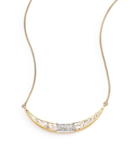 Shana Gulati | Metallic Diamond & 18k Yellow Gold Ozar Necklace | Lyst