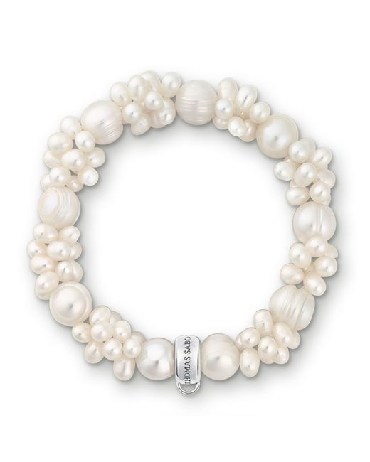 Thomas Sabo | Charm Club White Pearl Bracelet | Lyst