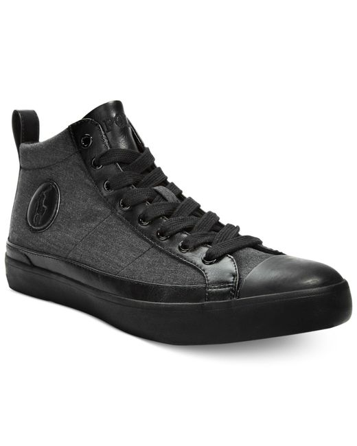 Polo Ralph Lauren | Black Clarke Hi-top Sneakers for Men | Lyst