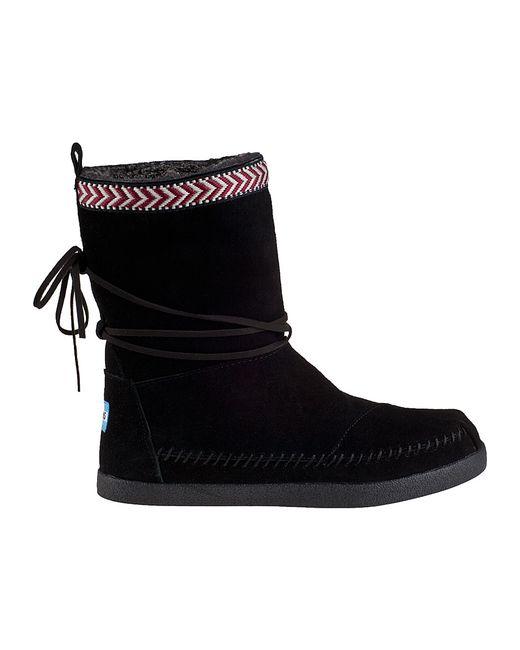 toms nepal boot black suede in black lyst