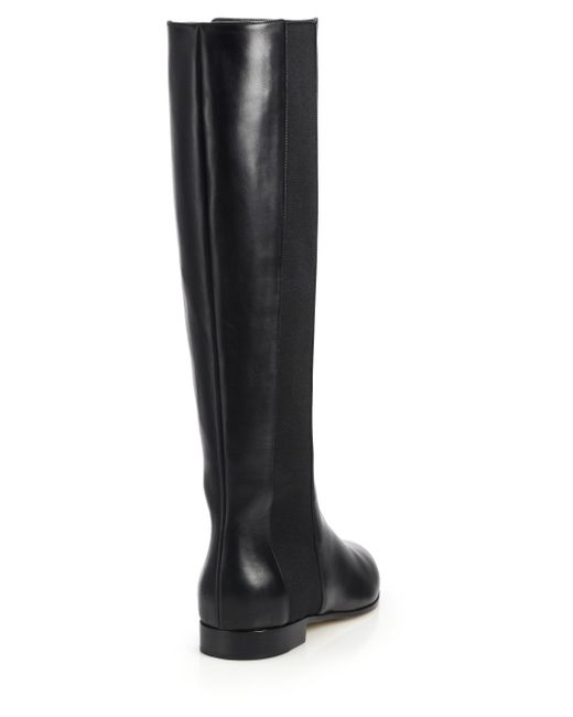 jimmy choo faith knee high leather stretch boots in
