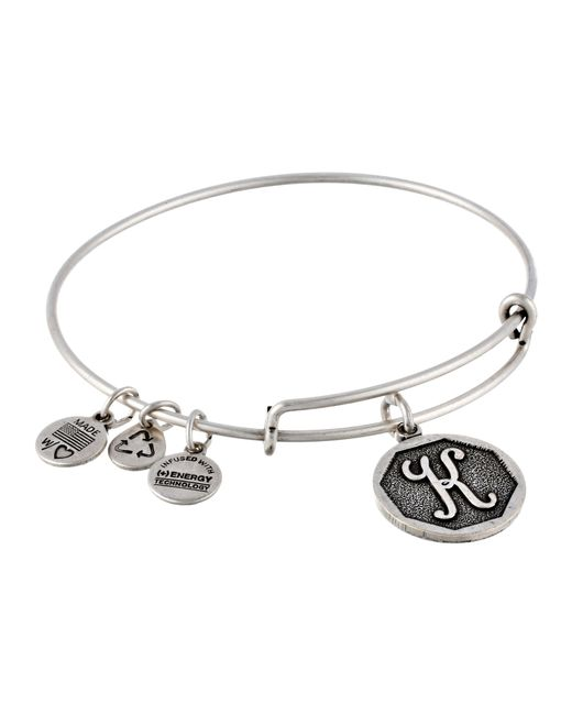 ALEX AND ANI | Metallic Initial K Charm Bangle | Lyst