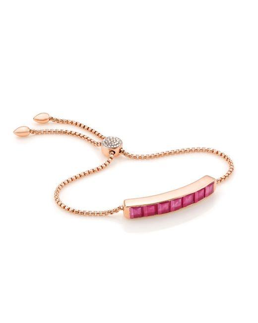 Monica Vinader | Red Baja Precious Bracelet | Lyst