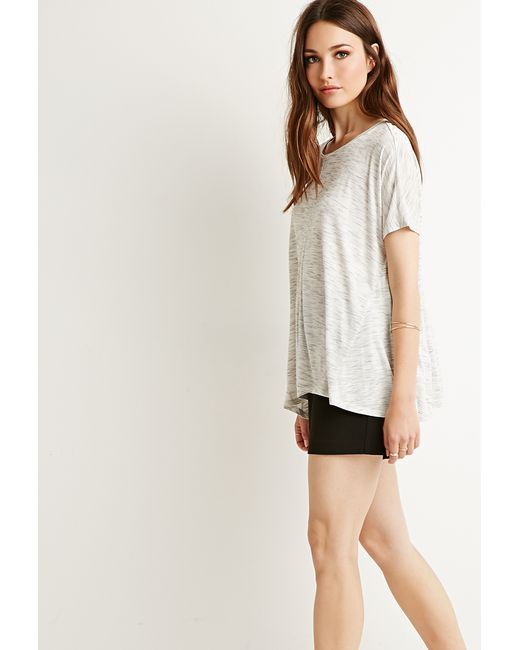 Forever 21   White Contemporary Space-dye Patterned Top   Lyst