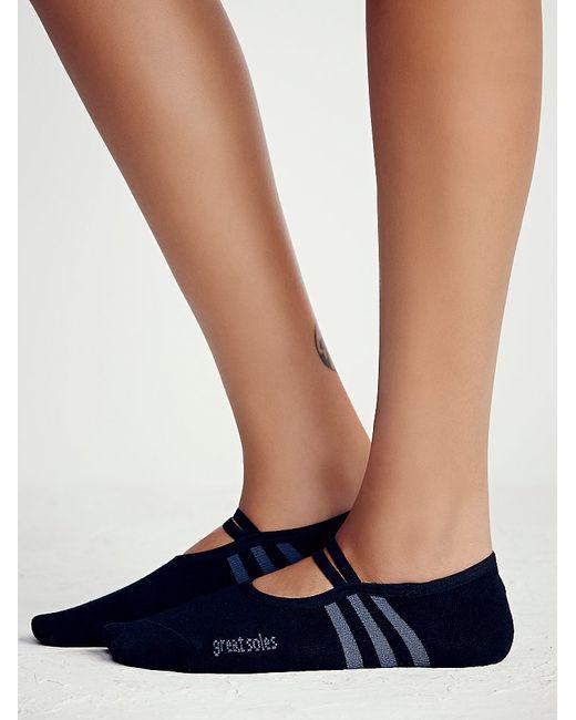 Free People | Black Ballet Barre Yoga Sock | Lyst