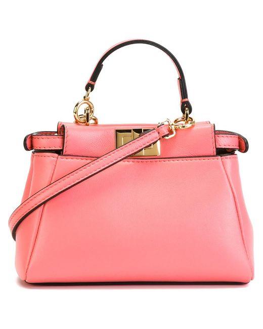 Fendi   Pink Micro Peekaboo Handbag   Lyst
