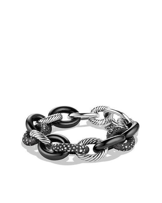 David Yurman | Blue Midnight Mélange Oval Large Link Bracelet With Diamonds | Lyst