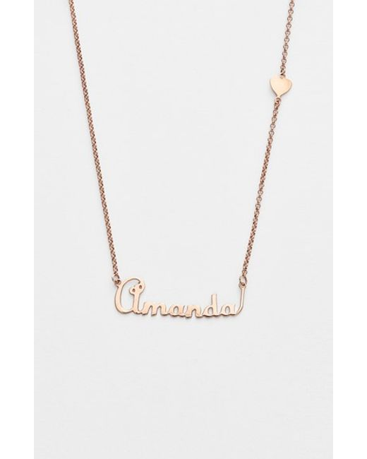 Argento Vivo   Metallic Personalized Script Name With Heart Necklace (nordstrom Online Exclusive)   Lyst