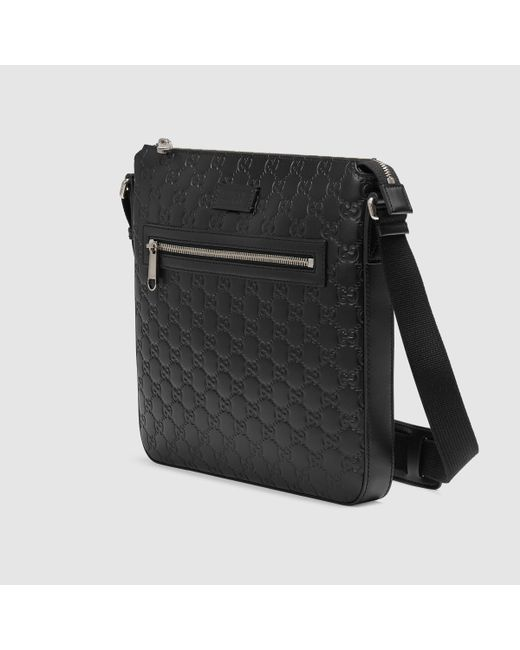 8031b902b2eab1 Gucci Mens Leather Messenger Bag W/web Black | Stanford Center for ...
