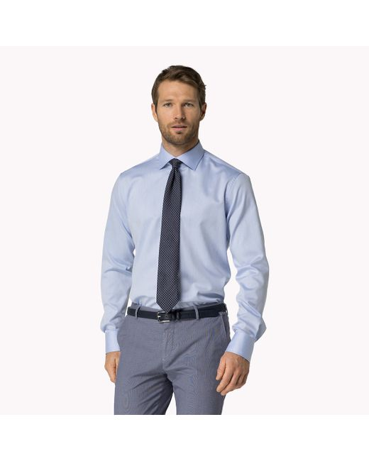 Tommy Hilfiger | Blue Jke Fitted Shirt for Men | Lyst