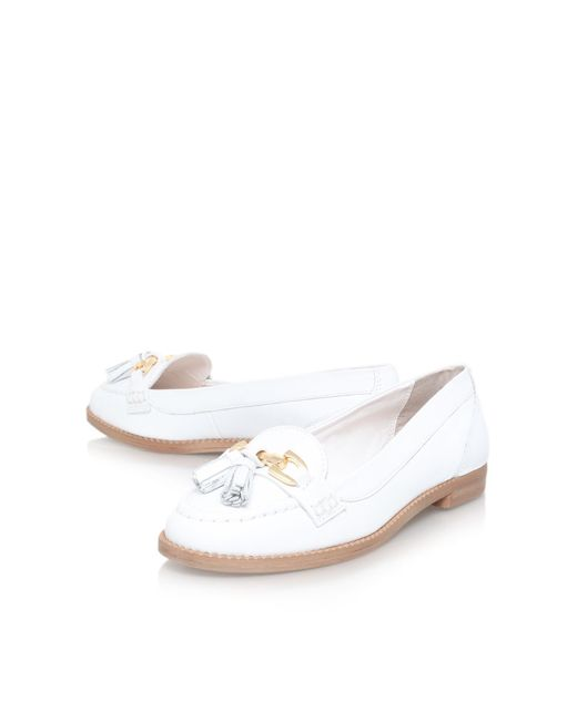 Carvela Kurt Geiger | White List Flat Slip On Loafers | Lyst