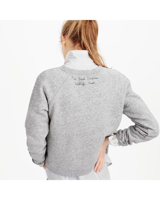 J.Crew | Gray Women's For David Sheldrick Wildlife Trust Save More Elephants Sweatshirt | Lyst