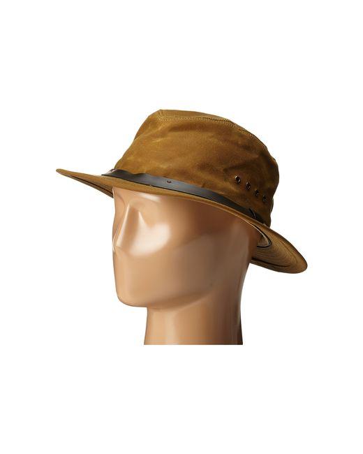 Filson Packer Hat: Filson Tin Packer Hat In Brown (Tan)