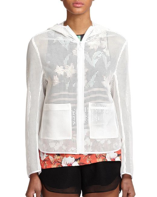 Clover Canyon | White Hooded Mesh Zip-up Jacket | Lyst