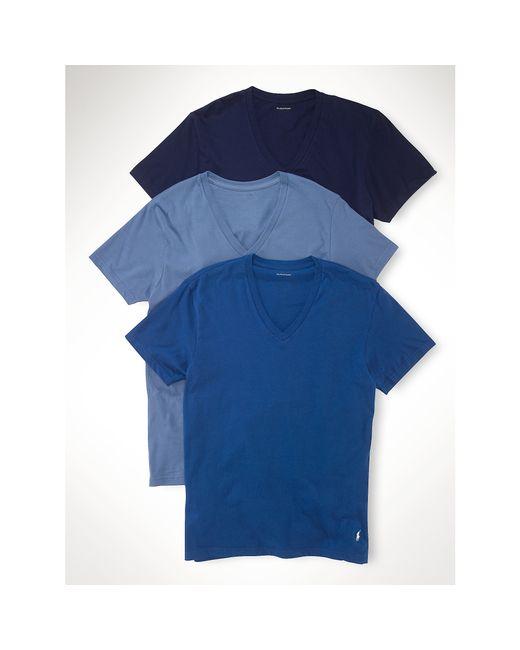 Polo Ralph Lauren | Blue Classic V-neck Three-pack for Men | Lyst