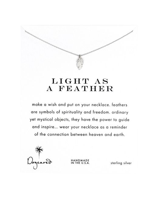 Dogeared | Metallic Sterling Silver Light As A Feather Reminder Necklace | Lyst