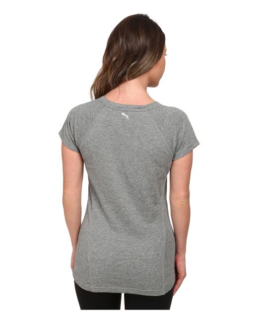 PUMA | Gray V-neck Multi Tee | Lyst