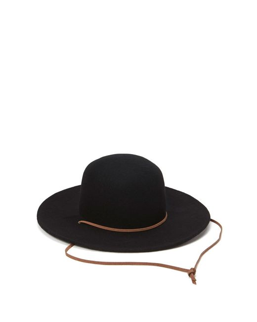 Forever 21 | Black Wide-brim Wool Hat | Lyst