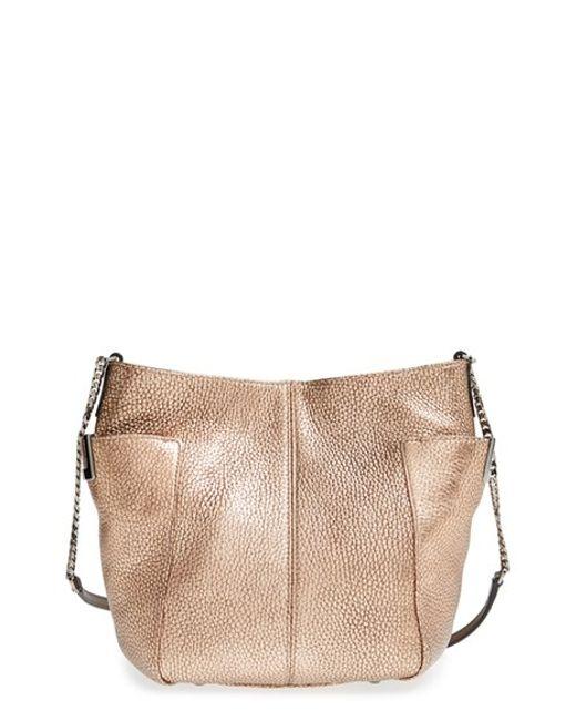 Jimmy choo 'Small Anabel' Metallic Leather Crossbody Bag ...