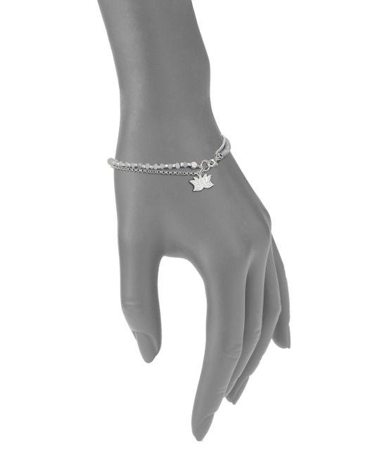 Astley Clarke | Metallic Biography White Sapphire, Moonstone & Sterling Silver Lotus Beaded Friendship Bracelet | Lyst