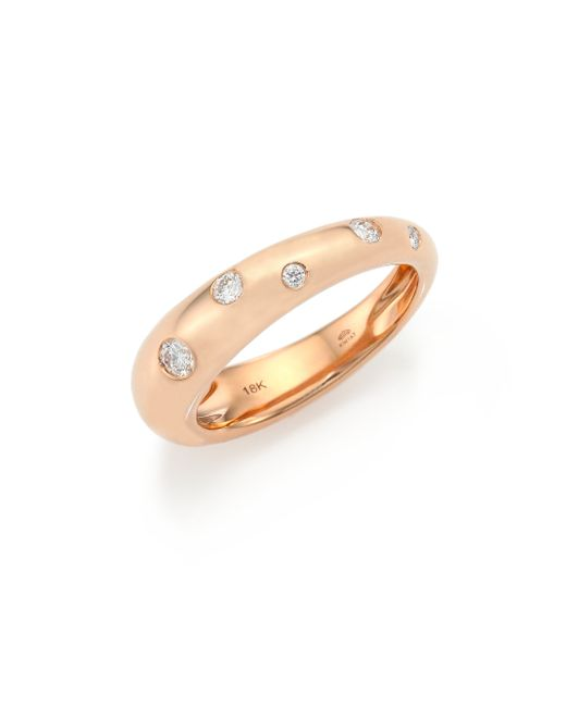 Kwiat | Pink Cobblestone Diamond & 18k Rose Gold Band Ring | Lyst