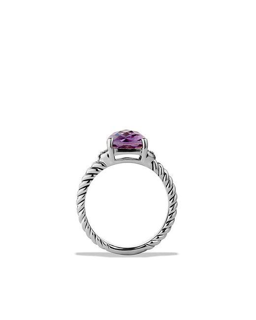 David Yurman | Metallic Petite Wheaton Ring With Amethyst And Diamonds | Lyst