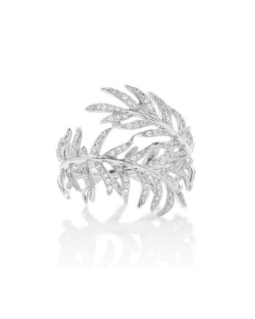 Katherine Jetter | Metallic Diamond Fern Ring | Lyst