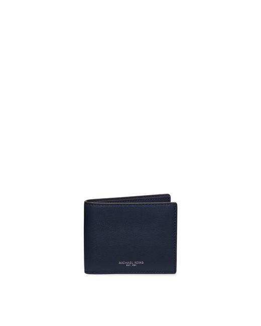 Michael Kors | Blue Harrison Crossgrain Coin Pocket Wallet for Men | Lyst