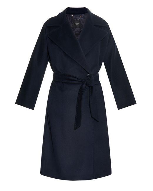 weekend by maxmara voghera coat in blue navy lyst. Black Bedroom Furniture Sets. Home Design Ideas