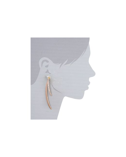 Guess | Pink Double Curved Stick Front To Back Earring | Lyst