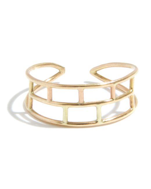 Melissa Joy Manning   Metallic Adjustable Layered Brick Ring   Lyst