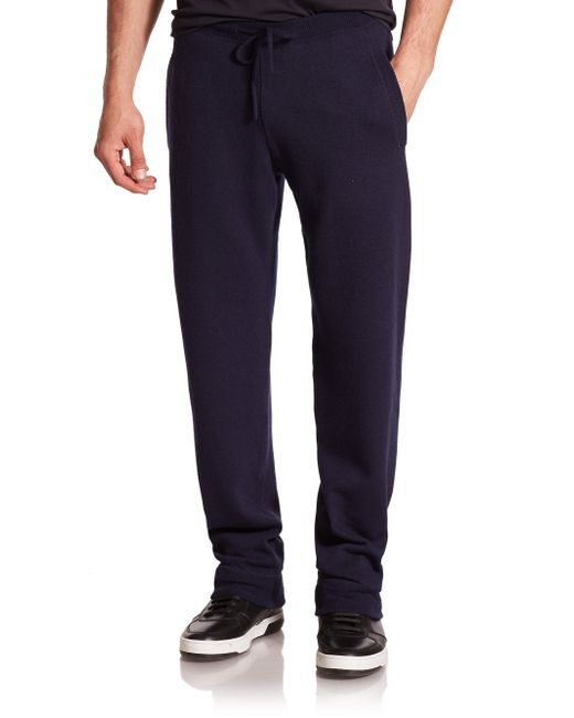 Ferragamo | Blue Cashmere Jogger Pants for Men | Lyst