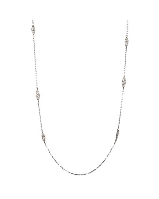 Alexis Bittar | Metallic White Sapphire Pave Marquis Station Necklace You Might Also Like | Lyst