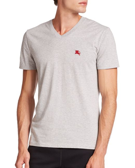 Burberry | Gray Lindon Tee for Men | Lyst
