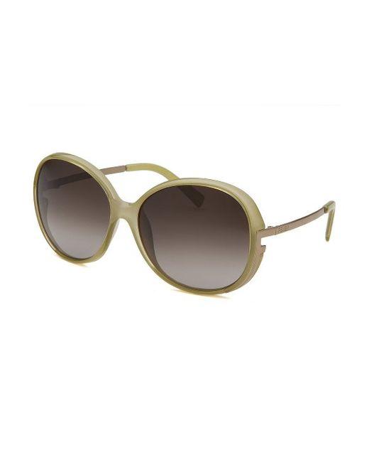 81c8154d06 Fendi Women  39 s Round Black Sunglasses in Green