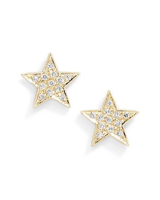 Dana Rebecca | Metallic 'julianne Himiko' Diamond Star Stud Earrings | Lyst