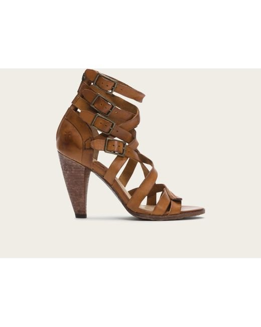Frye | Brown Mika Strappy Heel | Lyst