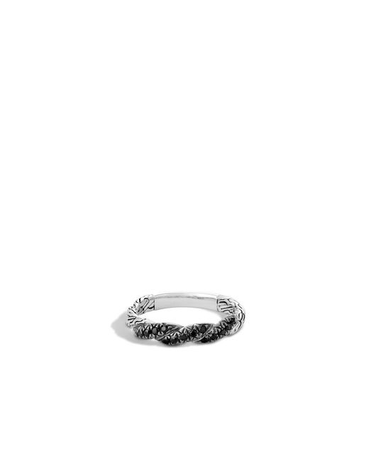 John Hardy | Twisted Chain Band Ring With Black Sapphire | Lyst