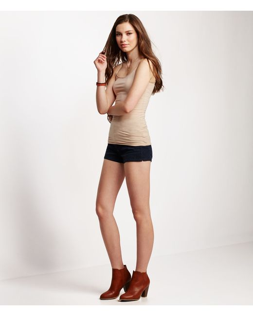 Aéropostale   Brown Solid Basic Cami   Lyst