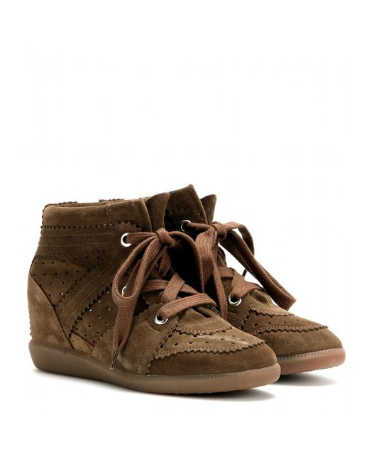 Isabel Marant | Natural Bobby Calfskin Velvet Leather Sneakers | Lyst