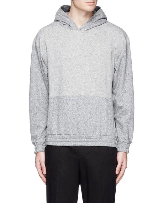 mcq alexander mcqueen tape print oversize hoodie in gray for men grey save 50 lyst. Black Bedroom Furniture Sets. Home Design Ideas