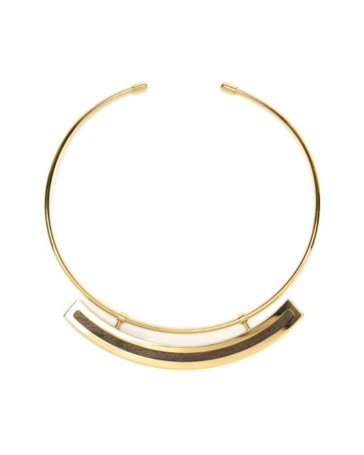 Lizzie Fortunato | Metallic Polanco Necklace In Wood | Lyst