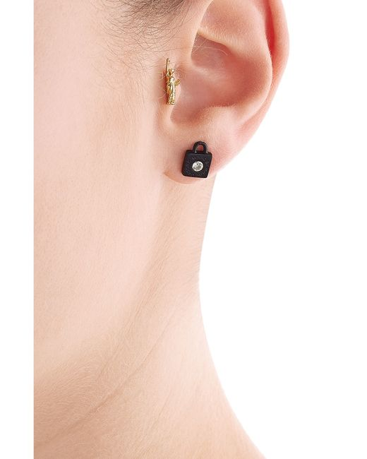 Marc By Marc Jacobs | Black Mixed Stud Earrings - Multicolor | Lyst
