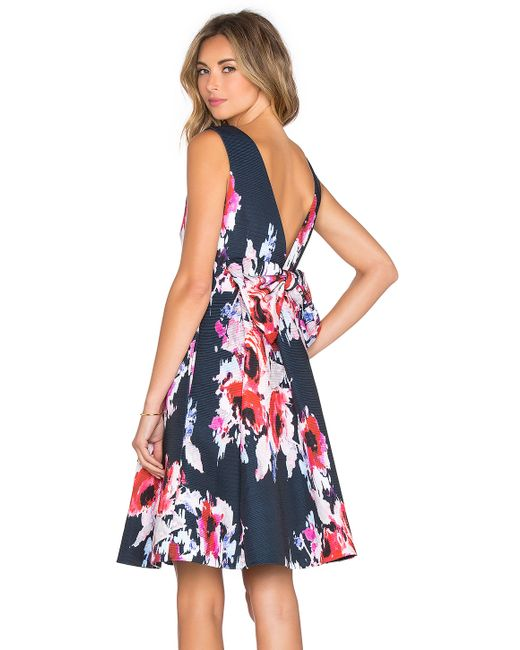 Kate Spade | Multicolor Hazy Floral Fit & Flare Dress | Lyst