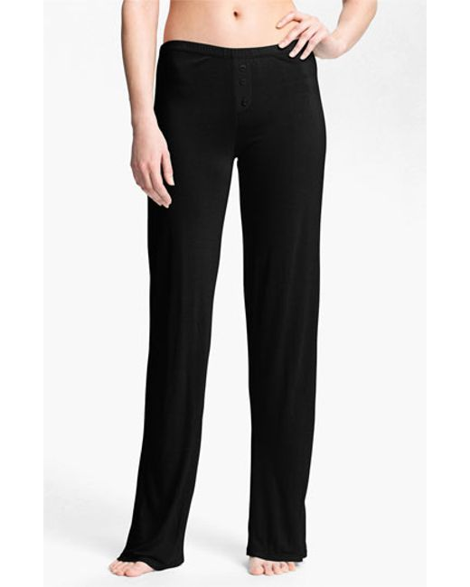 Pj Salvage | Black 'rayon Basics' Pants | Lyst