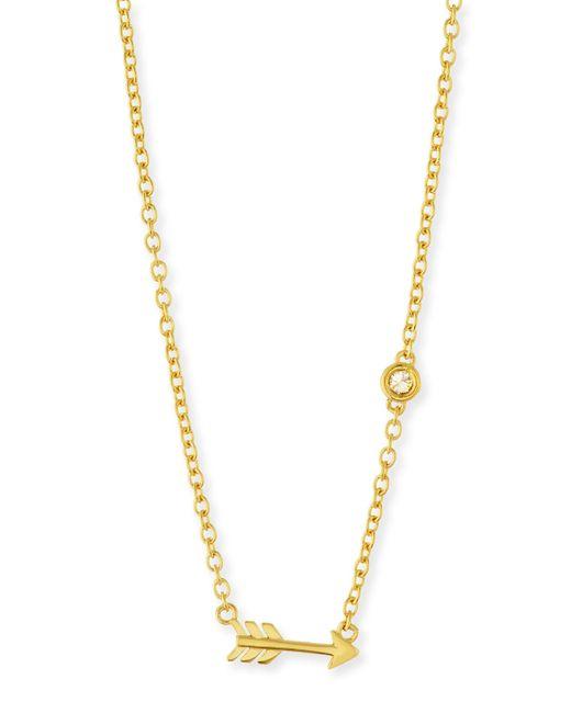 Shy By Sydney Evan | Metallic Arrow Bezel-diamond Pendant Necklace | Lyst