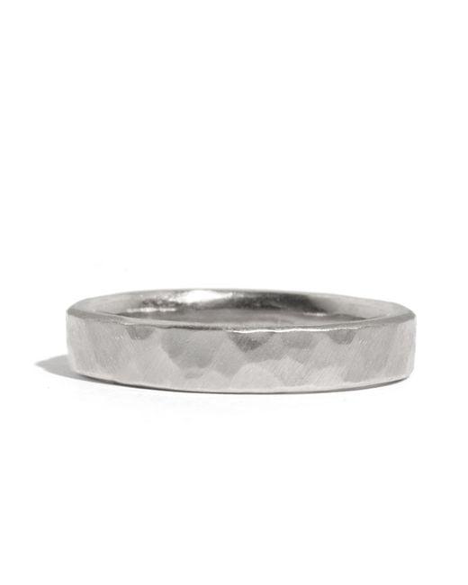 Melissa Joy Manning | Metallic 14k White Gold Hammered Texture 4mm Ring | Lyst